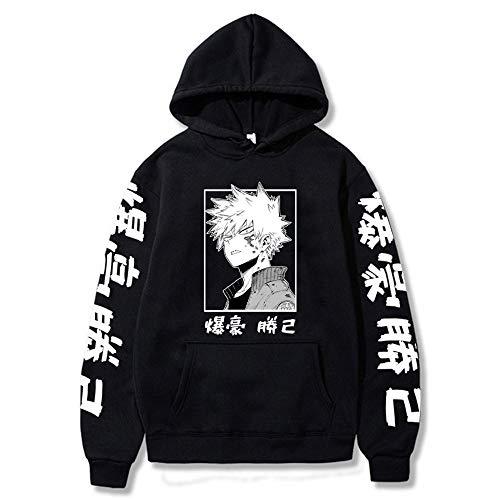 Anime My Hero Academia Hoodies Boku No Hero Academia Deku Sudadera con Capucha para Hombre Harajuku Todoroki Himiko Toga Pullover Streetwear para Unisex