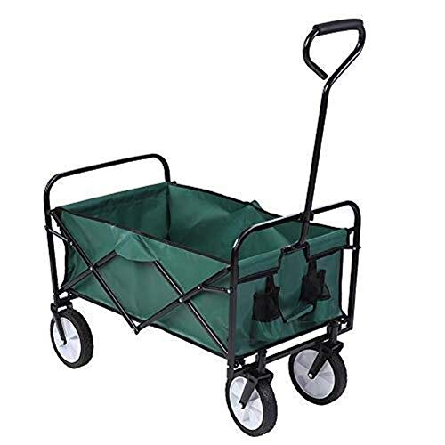 JIAN Trolley-trolley tuin kruiwagen festival tuin trolley zware steekwagen opvouwbaar outdoor tuin camping sport transportwagen met 4 rollen cap