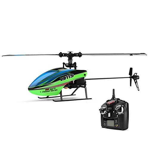 DBXMFZW 4 canales Control remoto Helicóptero RC Aircraft con Gyroscopio de 6 ejes Interior y escena al aire libre RC Airplane 2.4G One-Key Tape Off and Landing RC Aircraft Regalo para Boy Adult Profes