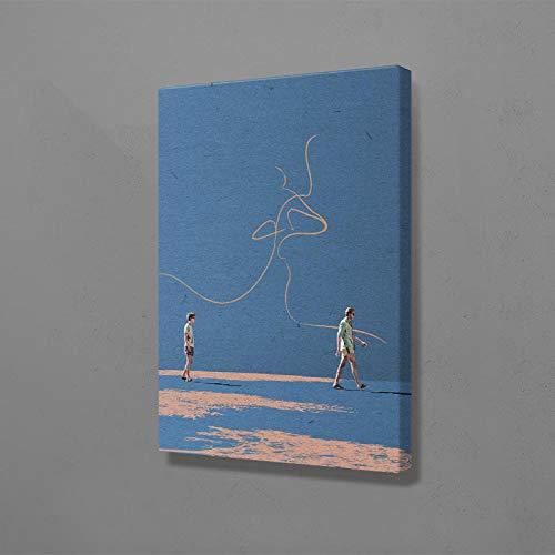 YWOHP Quadro modulare su Tela Chiamami col Tuo Nome Pittura murale Stampa Poster Personaggi del Cinema Modern Gay Home Decor Bedroom-60x80cm_No_Frame_Nordic_LS3019-01
