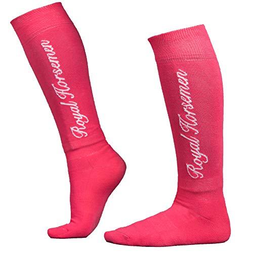 Royal Horsemen nachhaltige Reitsocken für Damen, Mädchen & Kinder, Reitstrümpfe, Reitkniestrümpfe aus Baumwolle, 35-38 & 39-42, Socken