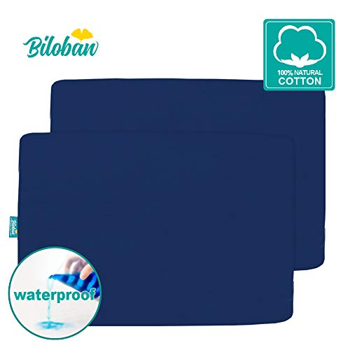 Buy Waterproof Pack N Play Sheets Fitted, 2 Pack Portable Playard/Mini Crib Sheets, Ultra Soft Cotto...