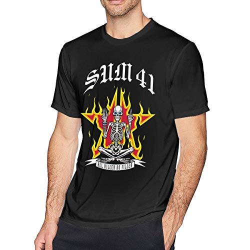 shenguang Wdnmddm Sum 41 Camiseta de Moda para Hombre Negra