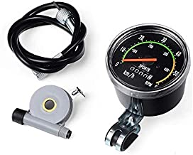 nuaele Bike Speedometer, Old School Style Bicycle Computer Speedometer Analog Odometer Classic Style for Exercycle & Bike, Universal Round Cycling MTB Tool