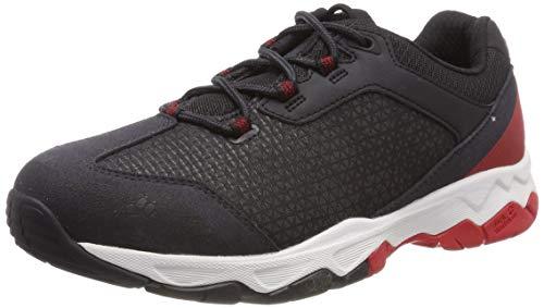 Jack Wolfskin Rock Hunter Low M, Chaussures de Randonnée Basses Homme Noir (Ruby Red 2505) 47.5 EU