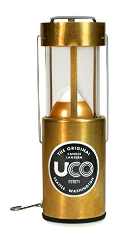 UCO Original Collapsible Candle Lantern, Polished Brass