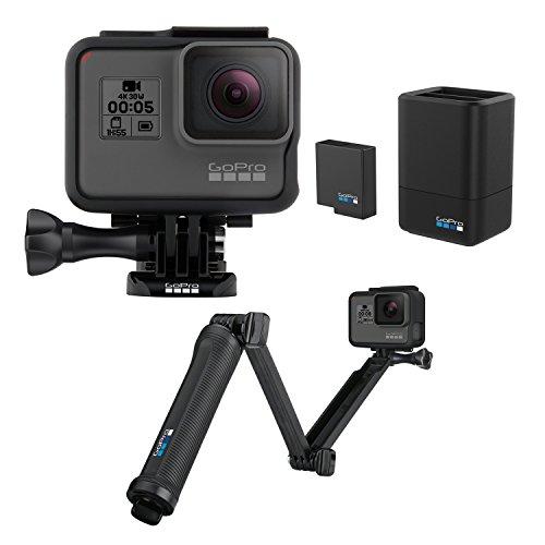 【国内正規品】 GoPro アクションカメラ HERO5 Black +デュアル バッテリー チャージャー + バッテリー+ 3-wayセット