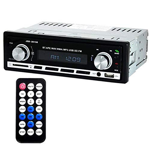 ZHANGY Radio de Coche, con Bluetooth, Reproductor de MP3, sintonizador de Radio FM Integrado, Control Remoto por Infrarrojos de función Completa, Potencia de Salida máxima de 45 W * 4 Canales