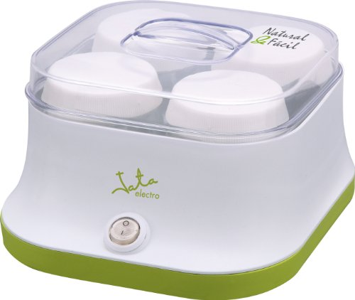 Jata YG523 Yogurtera para 4 Yogures sin Conservantes ni Aditivos Incluye 4 Vasos de Cristal de 150...