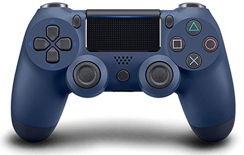 Wireless Controller for PS4, Gaming Controller for Pc Gamepad Joystick for Playstation 4/Pro/Slim Console with Dual Vibration shock/6-axis Gyro Sensor/Audio Function(Psychedelic Blue)