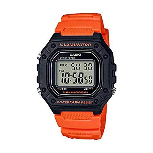 [カシオ]STANDARD DIGITAL カシオ スタンダード デジタル W-218H-4B2 腕時計 メンズ レディース チープカシオ チプカシ プチプラ ブラック 黒 オレンジ [並行輸入品]