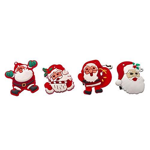 Godagoda Unisex broche Creative Persoonlijke cartoon kerstman patroon oplichtend LED Design clip sieradennaald hanger spelden voor sjaals mantel poncho's 3cm