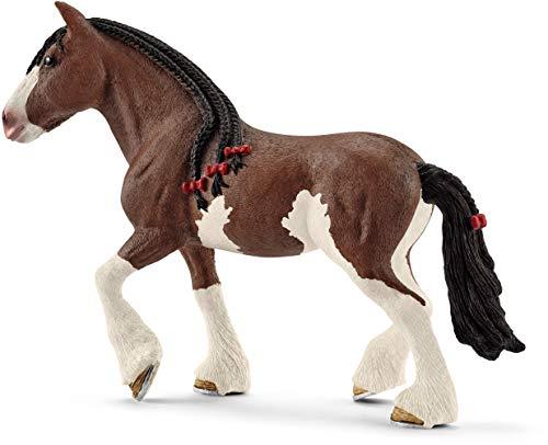 Schleich- Figura de Yegua Clydesdale, Colección Horse Club, 16.1 cm (