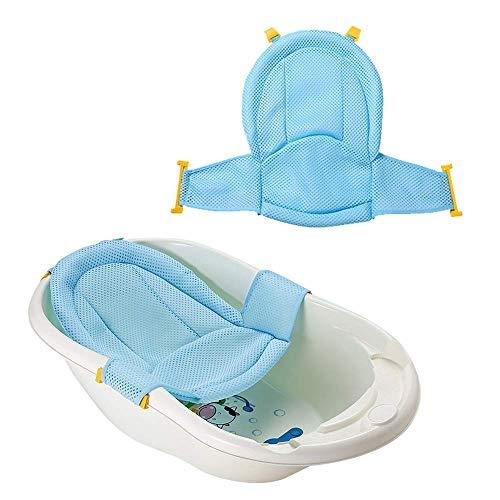 VOARGE Bañera para bebé, asiento de ducha para recién nacidos, malla ajustable para bañeras cómodas, para recién nacidos, bebés y niños pequeños, accesorios de baño