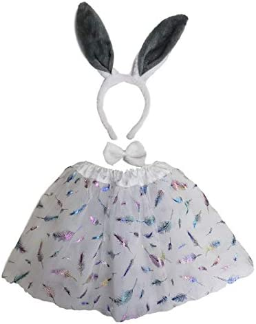 Printasaurus Free Size Girls Outfits Set Girls Rabbit Bunny Halloween Costume Fancy Dress Pink product image