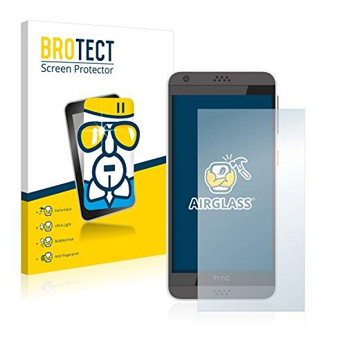 BROTECT Panzerglas Schutzfolie kompatibel mit HTC Desire 630 - AirGlass, 9H Festigkeit, Anti-Fingerprint, HD-Clear