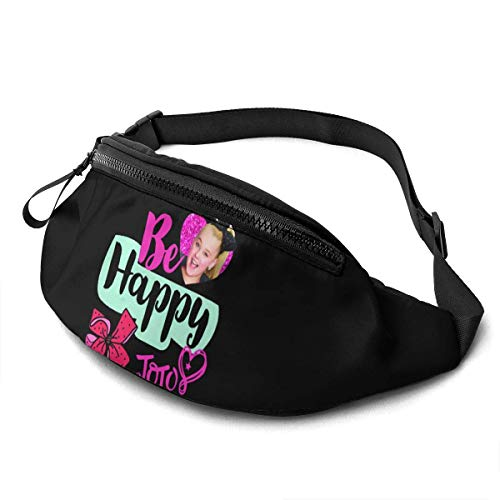 AOOEDM JoJo Siwa Casual Waist Bag Men and Women Adjustable Belt Sports Bag Running Bag