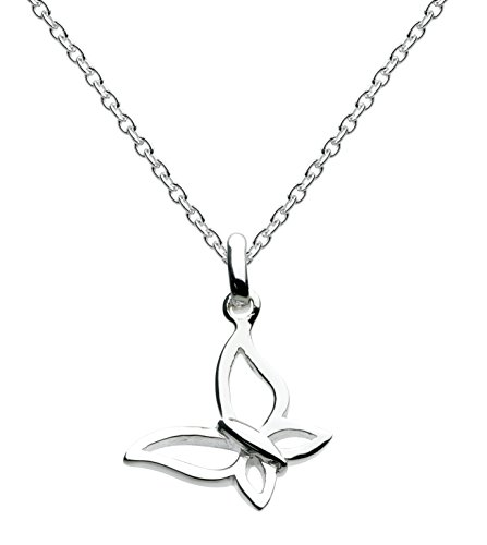 Dew Sterling Silver Small Butterfly Necklace of Length 45.7 cm