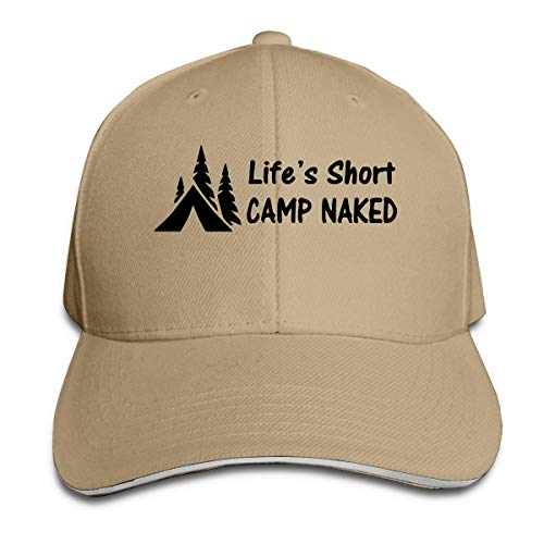 xinfub Unisex Baseball Cap Lifes Short Camp Naked Hiker Hiking Cotton Dad Hat Adjustable Classic Sports & Outdoors Caps Pretty 18365 Net red 5120