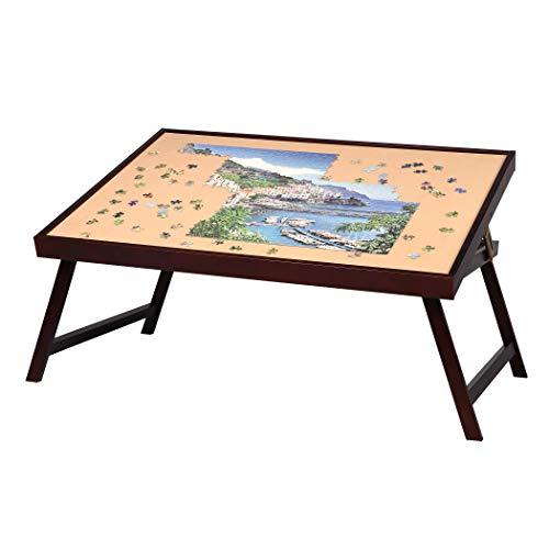 Lavievert, tavolo da puzzle in legno, grande, portatile, pieghevole, per fino a 1.500 puzzle