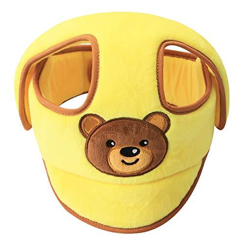 Baby-Schutzhelm, Kopfschutzhut für Kleinkinder Verstellbarer Helm Kopfschutz Schutzkappe für Kleinkinder Lerne laufen,Gelb