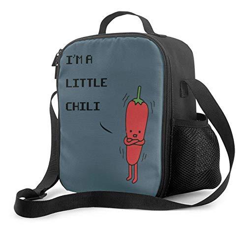 Bolsa de almuerzo aislada Im A Little Chili Pullover Hoodie Aislamiento térmico portátil Bolsa de almuerzo fría Picnic Oficina Escuela