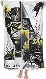 AQEWXBB Batman - Toalla de playa, diseño de Superman Anime, toalla de secado rápido para niños, toalla de playa multiusos (Batman-1, 80 x 130 cm)