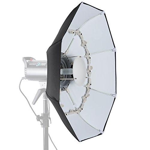 Neewer 70 centímetros Plato de Belleza Plegable Octogonal con Disco Deflector Central, Difusor Delantero Extraíble y Anillo de Velocidad Bowens para Monolight Flash de Estudio fotografía y Retratos