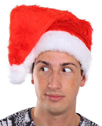 Santa Hat Red Plush Santa Hat