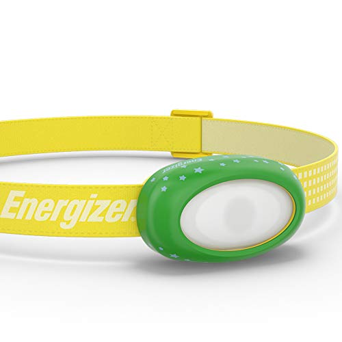 Energizer LED Headlamp for Kids, Ages 3+, Bright and Durable, Interchangeable Colors, Safe for Kids and Adults, Batteries Included, Yellow