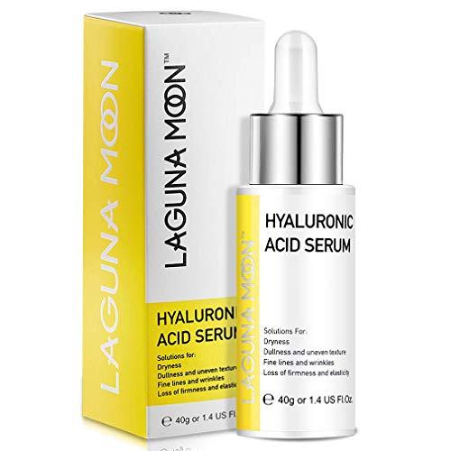 Lagunamoon Sérum Visage avec Acide Hyaluronique, Sérum Visage Nourrissante, Anti taches et Anti vieillissement, 40g