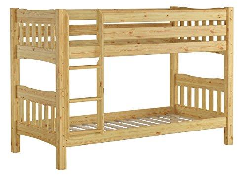 Erst-Holz Letto a Castello 90x200 in Pino divisibile con doghe rigide e nicchia 70cm 60.15-09Ni70