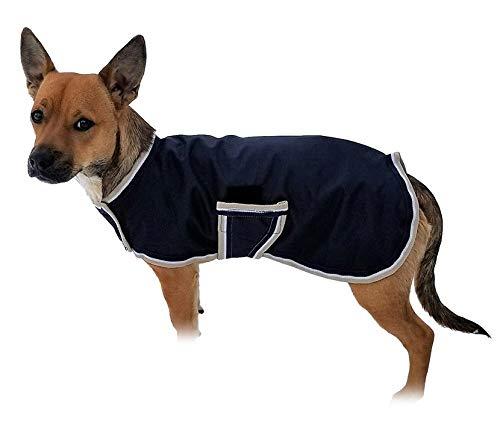 Horseware OSO1O Hundemantel, Größe XXXS, Marineblau/Hautfarbe/Weiß