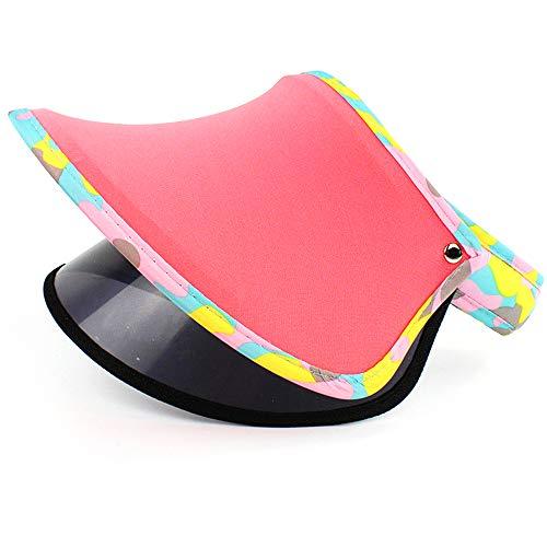 LYDIAMOON Kinderhut Sommer Sonnenschutz Sonnenhut UV-Schutz Leeroberteil Dünnschnitt Cooler Hut,Watermelonred,B
