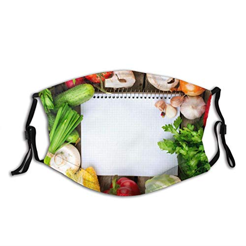 Bequeme Gesichtsmaske, eBook, Gemüse, Blumenkohl, sonnenfest, modisches Bandana,...