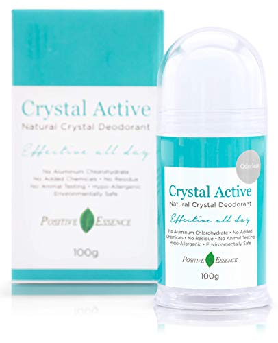 Thai Crystal Deodorant Stone, Crystal Active, 100% Natural, Long...