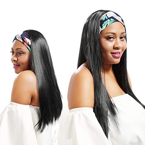 Fay Bless diadema peluca cabello humano pelucas para mujeres negras rectas (16')