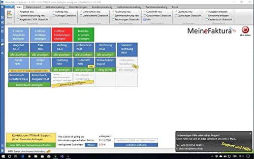 Kaufversion - MeineFaktura Business - Rechnungsprogramm für (Klein-) Unternehmer Selbständige und Freelancer Angebote Aufträge Lieferscheine Rechnungen Kunden- und Artikelverwaltung Kassenbuch