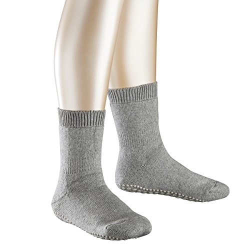 FALKE Kinder Homesocks Catspads 3er Pack, Größe:35-38;Farbe:light grey melange