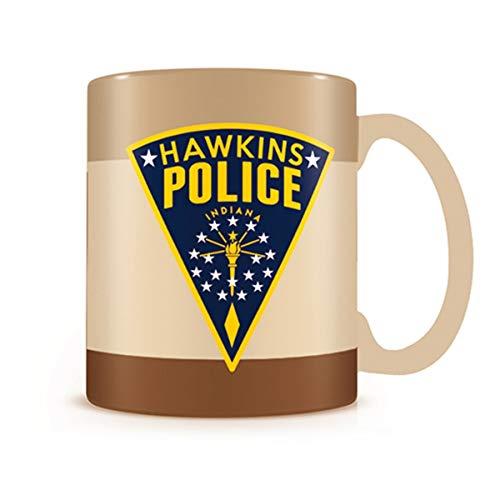 Stranger Things Caneca Sherwood Stranger Things Hawkings Police 320 ml