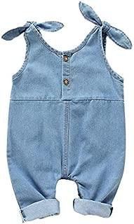 ملابس الاطفال Summer Sling Children Jumpsuit Jeans, Kid Size:80cm(Light Blue) ملابس الأولاد (Color : Light Blue)