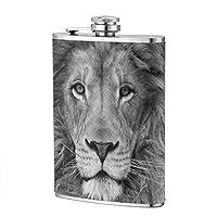 クールなライオン ワインボトル フラゴン8OZ ステンレス鋼 防錆 ポータブル 光 小さい ミニ 酒瓶 小さなやかん 304 ステンレス鋼 ファッション ホリデーギフト