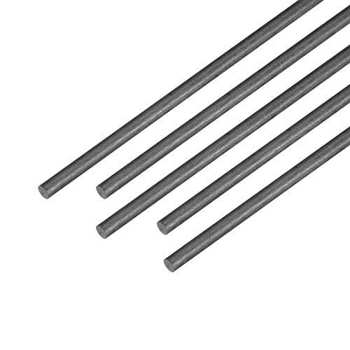 Fielect 2.5mm Diameter Carbon Fiber Straight Bar for RC Airplane Kites Etc 400mm 5pcs