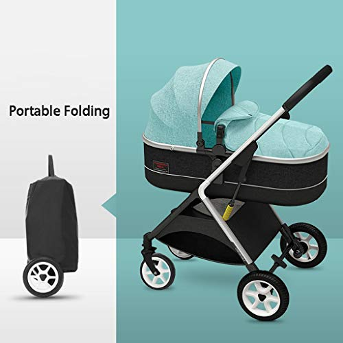 Affordable STRR Baby Stroller, Convertible Reclining Stroller, Foldable and Portable Pram Carriage P...