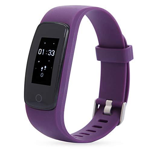Da Dini Smartwatch Color Pantalla De Color Smartwatch Pulsera Pulsera Tasa del Corazón Rastreador De Aptitud Monitor De Sueño (púrpura)