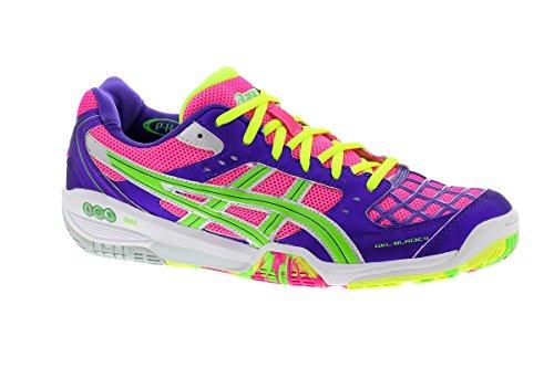 Asics GEL-Blade 4 Damen Indoorschuh R355N1970 Pink/Neon Green/Purple (11.5)