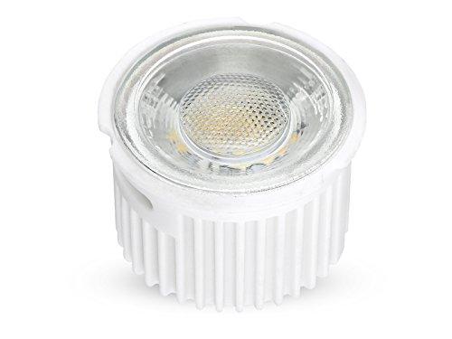 linovum® ultra flaches 5W LED Modul (33mm) 230V für Einbauleuchten Einbaustrahler Rahmen, ersetzt 50W Halogen, warmweiß 2700K