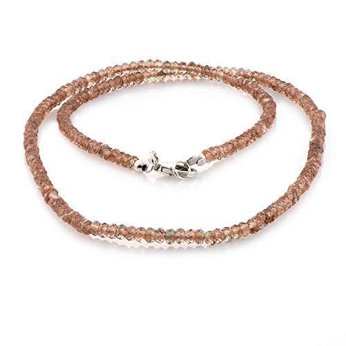 Natürlicher Zirkon Edelstein Halskette Schmuck, Geschenk für Frauen, Mädchen und Männer, Geschenk für Geburtstag, Jubiläum, Weihnachten und Partys, etc.