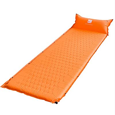 2017 TuTu Outdoors Lightweight Self-Inflating Sleeping Pad Mat With Inflatable Pillow - Extended And Thickened XL Size- Backpacking Comfortable Air Fabric Mattress For Camping Hiking