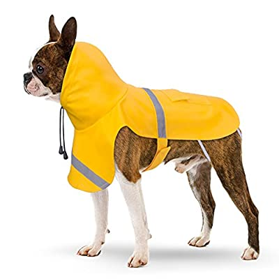 Dog Raincoat, PETBABA Reflective Rain Jacket with Hood for Dogs